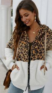 💛🌺 SHEIN leopard contrast teddy jacket